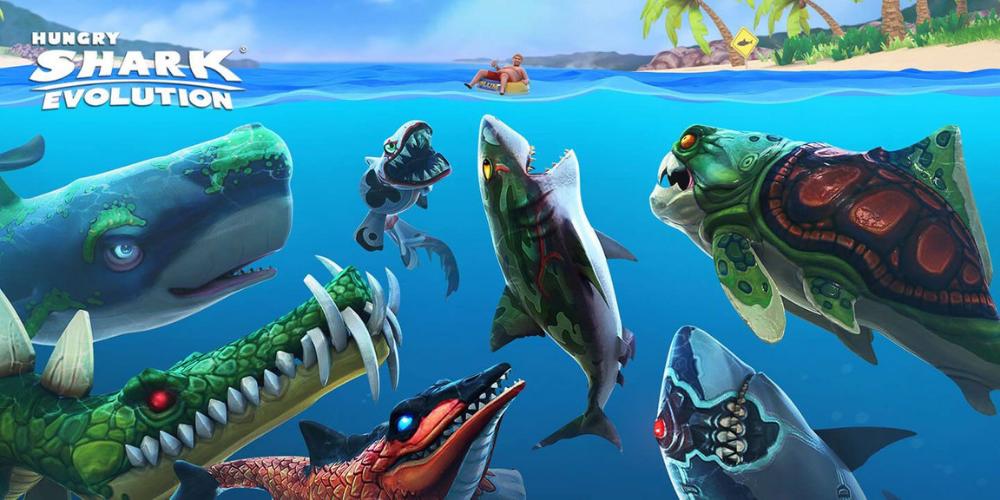 hungry shark evolution mod apk image